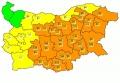 За седемнадесет области за утре е обявен оранжев код за вятър и сняг